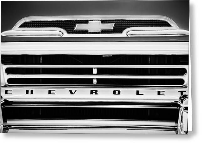 1959 Chevrolet Napco Fleetside Grille Emblem -1634bw Greeting Card by Jill Reger