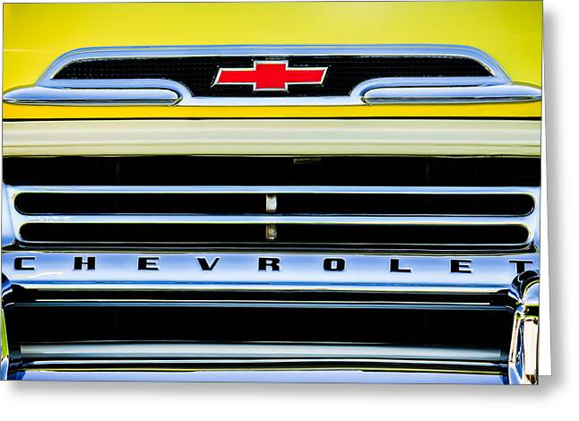 1959 Chevrolet Napco Fleetside Grille Emblem -1634c Greeting Card by Jill Reger