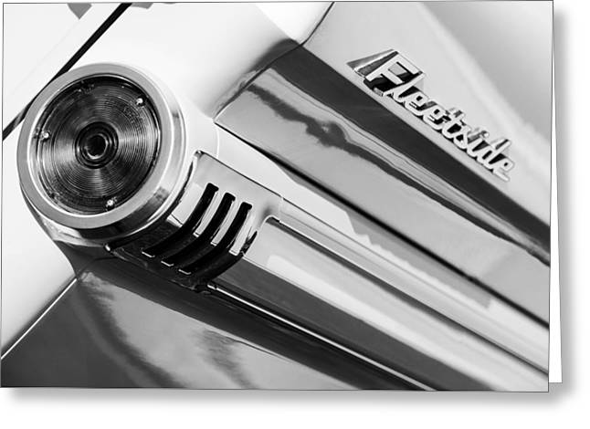1959 Chevrolet Napco Fleetside Tail Light Emblem -1564bw Greeting Card by Jill Reger