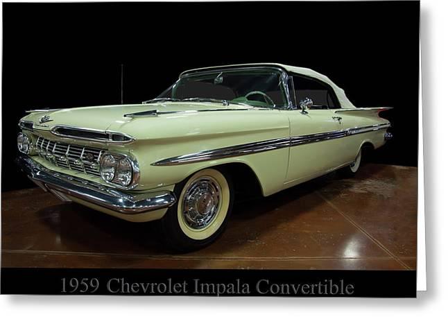 1959 Chevy Impala Convertible Greeting Card