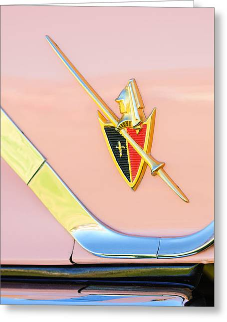 1959 Dodge Coronet Emblem -0885c Greeting Card