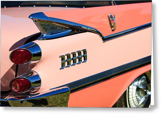 1959 Dodge Coronet Tail Lights -0928c Greeting Card
