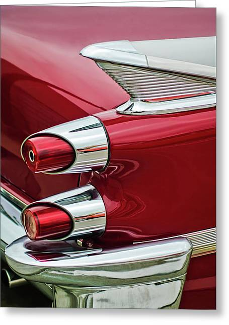 1959 Dodge Custom Royal Super D 500 Taillight Greeting Card by Jill Reger