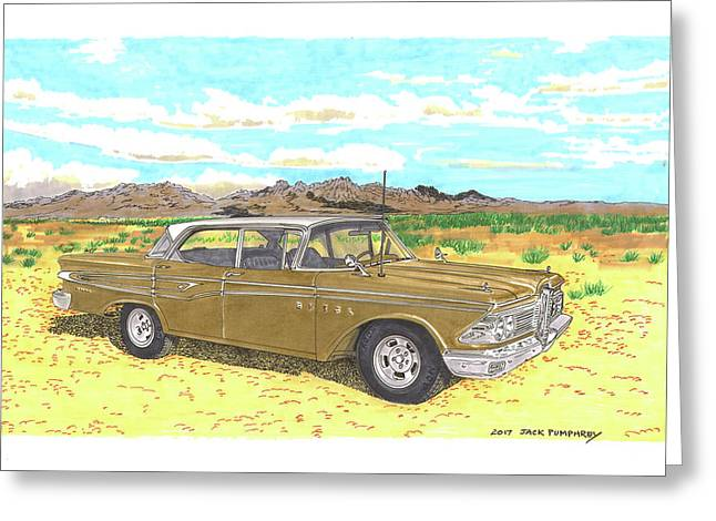 1959 Edsel Corsair Greeting Card