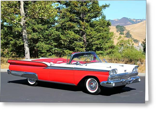 1959 Ford Fairlane 500 Greeting Card