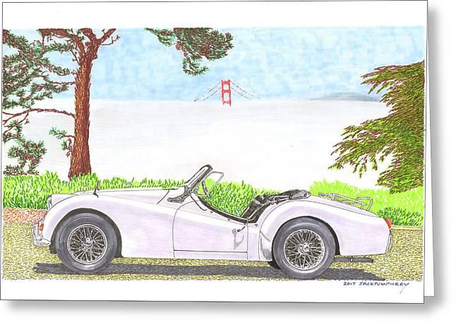 1959 Triumph T R 3 Greeting Card