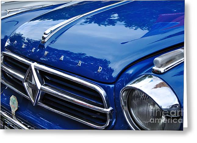 Collector Hood Ornament Greeting Cards - 1960 Borgward Isabella Coupe Greeting Card by Kaye Menner