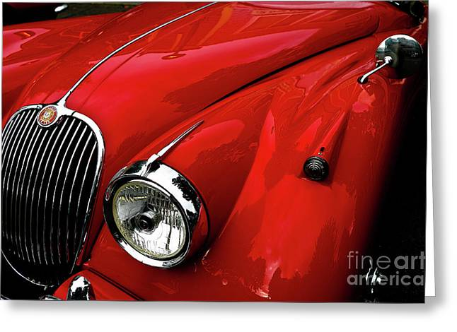 Greeting Card featuring the photograph 1960s Jaguar by M G Whittingham