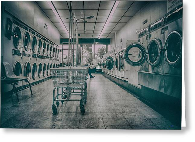 1960s Launderette Greeting Card