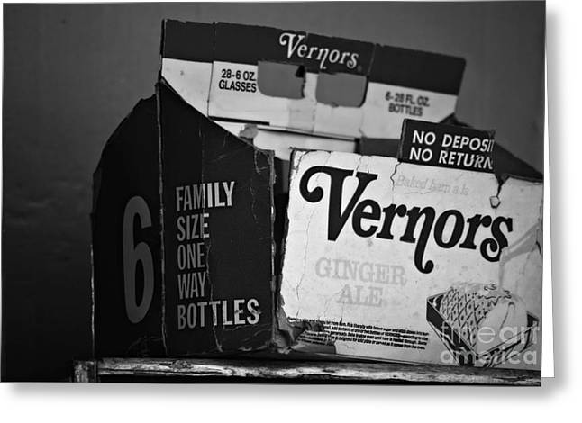 1960's Vernors Box. No Deposit, No Rerurn  Greeting Card