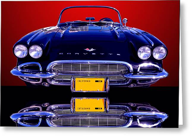 1961 Chevy Corvette Greeting Card