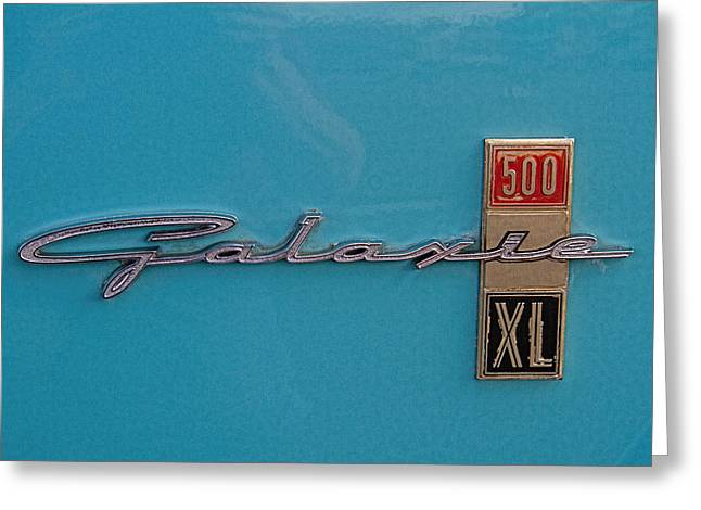 1961 Ford Galaxie Logo Greeting Card by Nick Gray