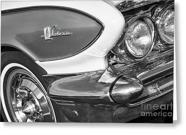 Greeting Card featuring the photograph 1961 Le Sabre Monotone by Dennis Hedberg