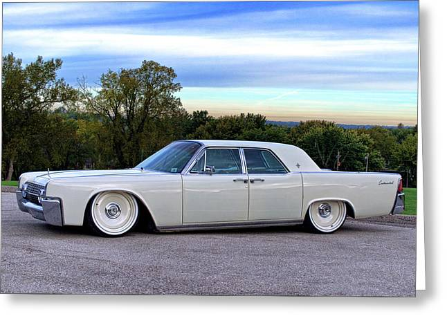 1961 Lincoln Continental Greeting Card