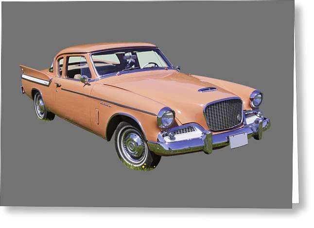 1961 Studebaker Hawk Coupe Greeting Card