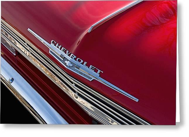 1962 Chevrolet Hood Emblem Greeting Card