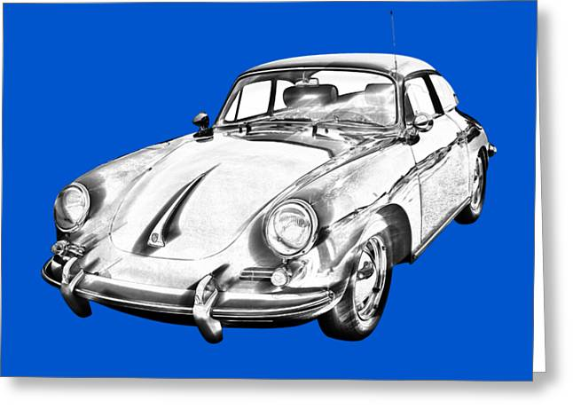 1962  Porsche 356 E Illustration Greeting Card
