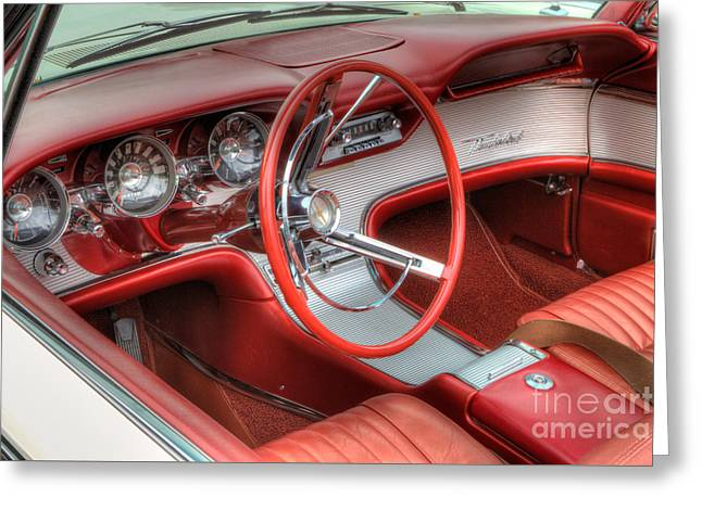1962 Thunderbird Dash Greeting Card by Jerry Fornarotto