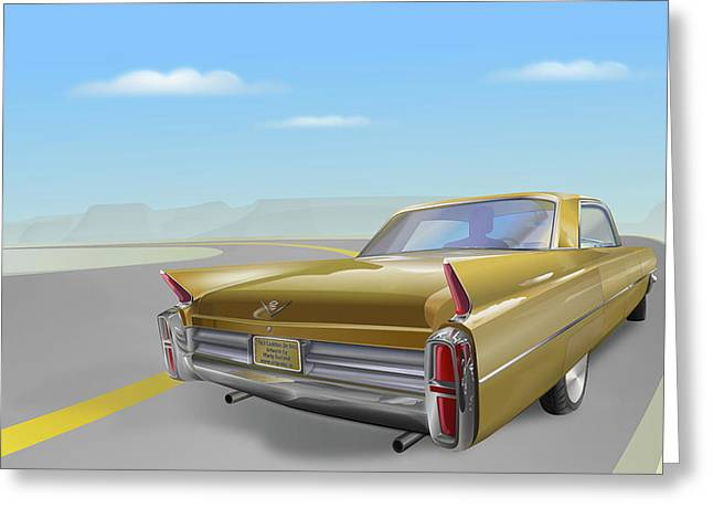 1963 Cadillac De Ville Greeting Card
