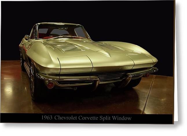 Greeting Card featuring the photograph 1963 Chevrolet Corvette Split Window by Chris Flees