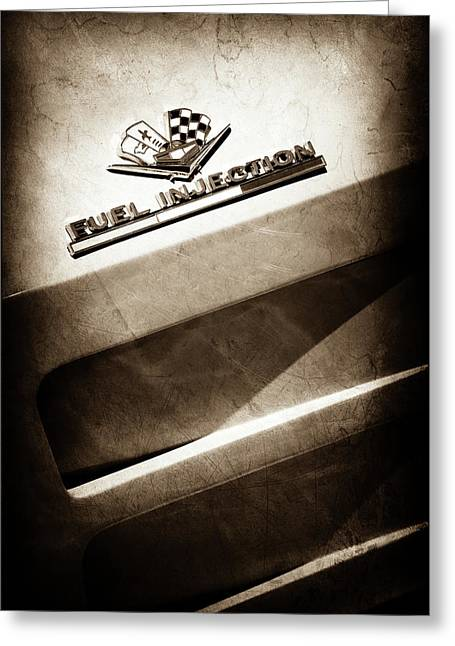 1963 Chevrolet Corvette Sting Ray Emblem -1602s Greeting Card