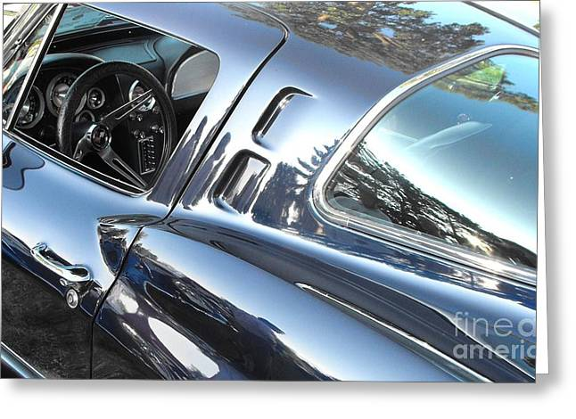 Vintage Greeting Cards - 1963 Corvette Stingray Greeting Card by Neil Zimmerman