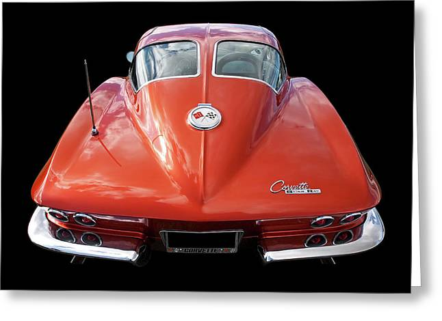 1963 Corvette Stingray Split Window Rear Greeting Card