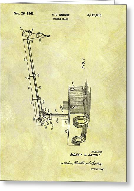 1963 Crane Patent Greeting Card by Dan Sproul