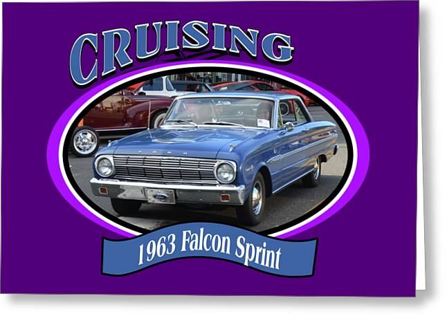 1963 Falcon Sprint Proctor Greeting Card by Mobile Event Photo Car Show Photography