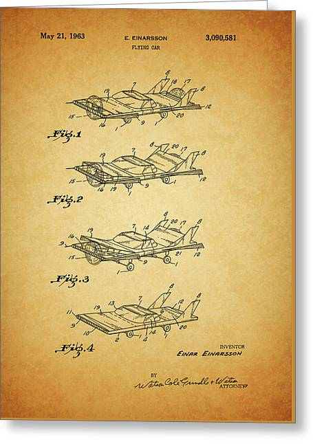 1963 Flying Car Patent Greeting Card