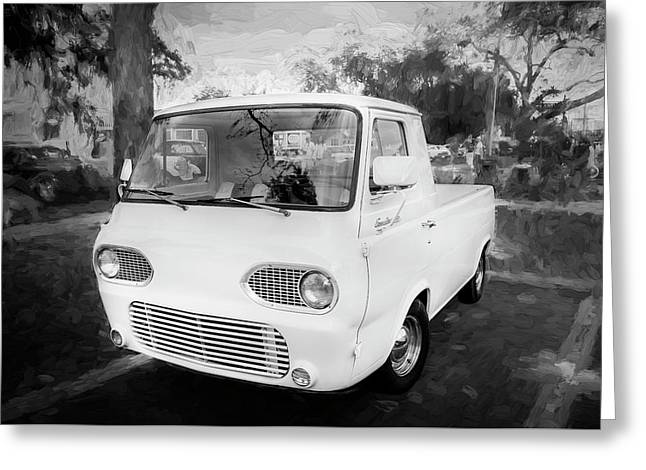 1963 Ford Econoline Truck Bw  Greeting Card by Rich Franco