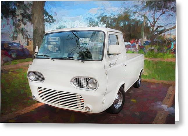 1963 Ford Econoline Truck  Greeting Card by Rich Franco