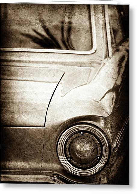 1963 Ford Falcon Taillight -0566s Greeting Card by Jill Reger