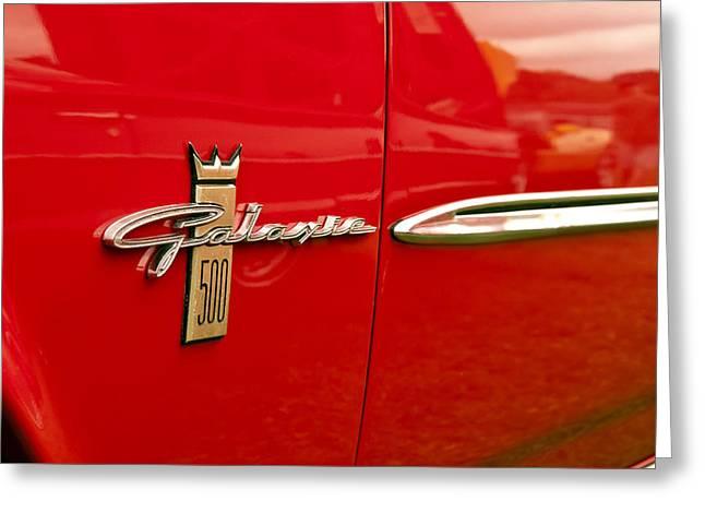 1963 Ford Galaxie 500 Greeting Card by Glenn Gordon