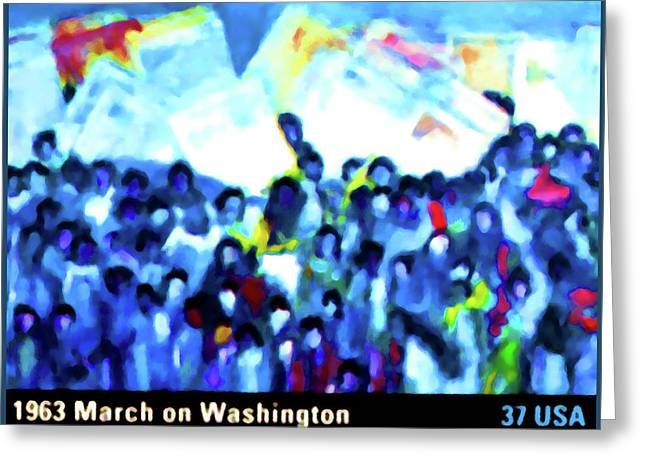 1963 March On Washington Greeting Card by Lanjee Chee