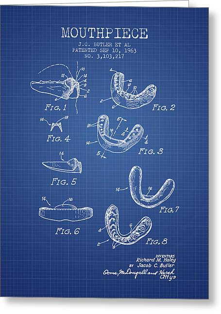 1963 Mouthpiece Patent Spbx15_bp Greeting Card by Aged Pixel