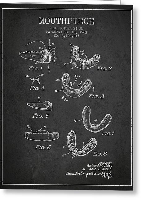 1963 Mouthpiece Patent Spbx15_cg Greeting Card by Aged Pixel