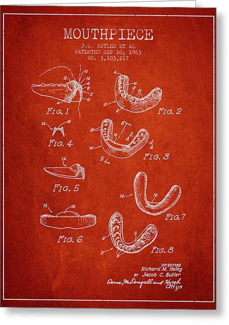 1963 Mouthpiece Patent Spbx15_vr Greeting Card by Aged Pixel