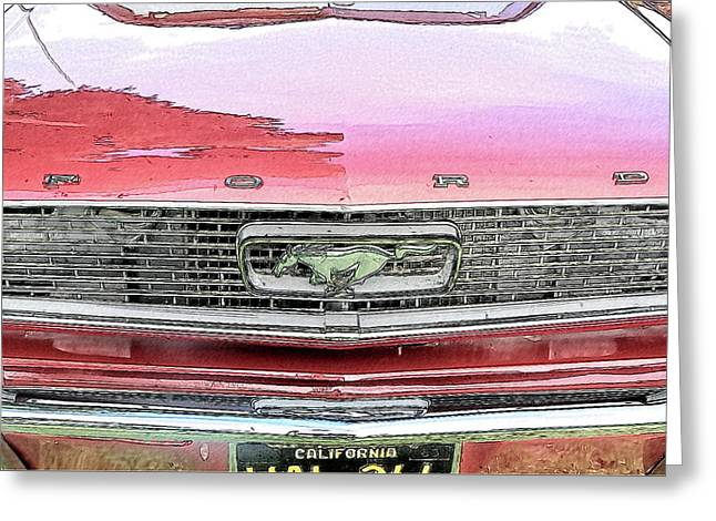 1963 Mustang Greeting Card by Kenneth Roberts
