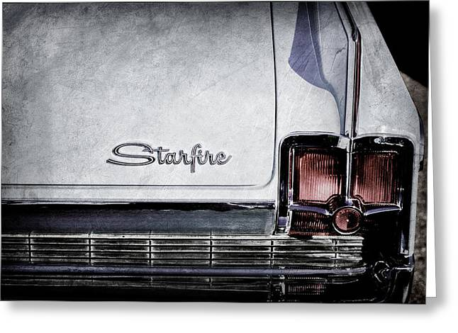 1963 Oldsmobile Starfire Taillight Emblem -046ac Greeting Card by Jill Reger