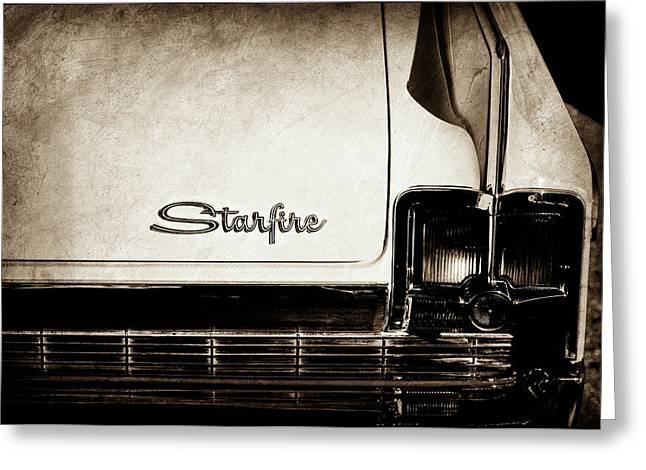 1963 Oldsmobile Starfire Taillight Emblem -046s Greeting Card by Jill Reger