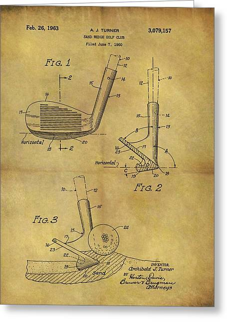 1963 Sand Wedge Patent Greeting Card
