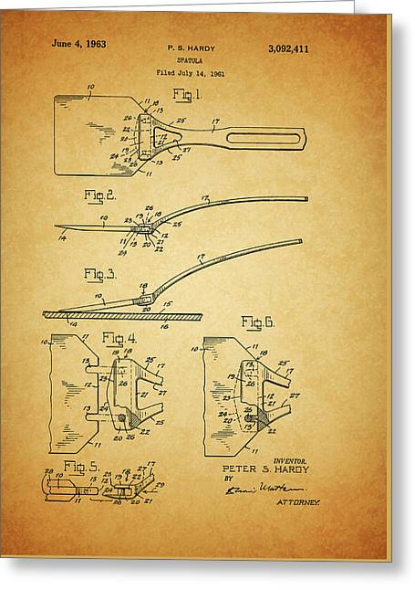 1963 Spatula Patent Greeting Card