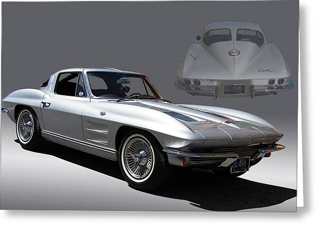 1963 Split Window Corvette Greeting Card by Nick Gray
