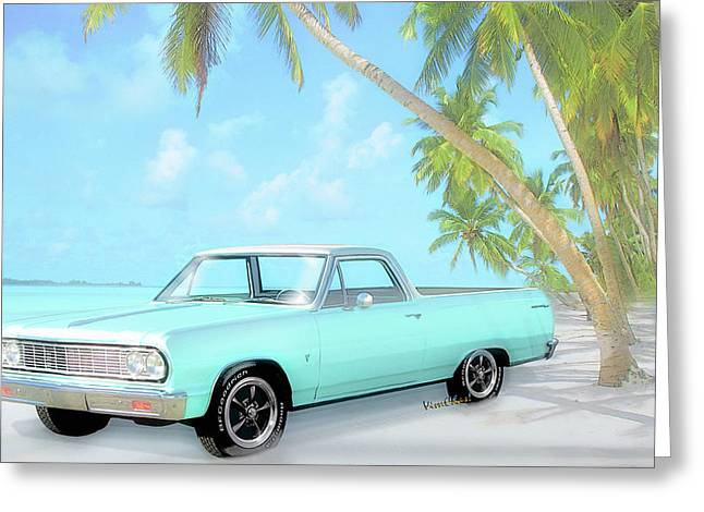 1964 Chevy El Camino 2nd Generation 1964-1967 Greeting Card by Chas Sinklier