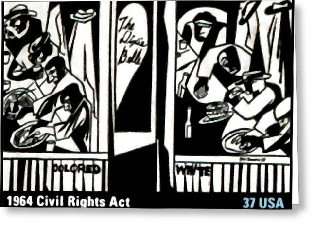 1964 Civil Rights Act Greeting Card by Lanjee Chee