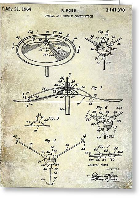 1964 Cymbal Patent  Greeting Card