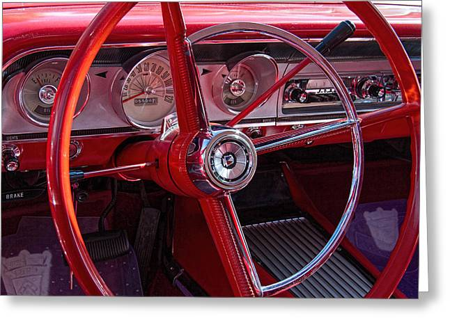 1964 Ford Fairlane Dashboard Greeting Card by Nick Gray