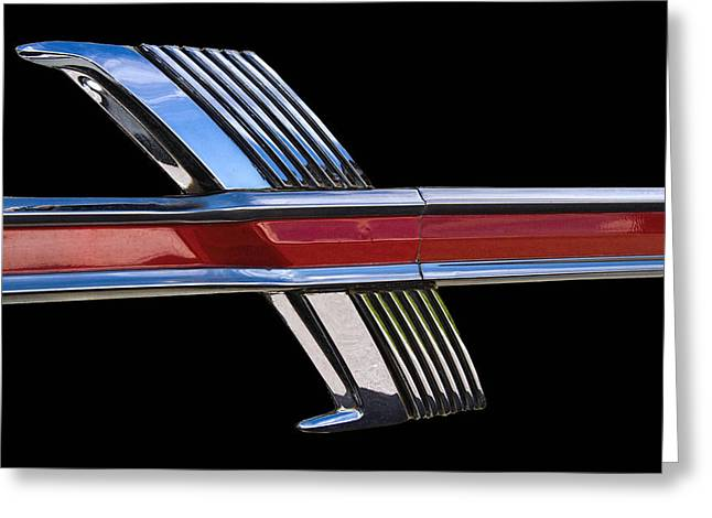 1964 Ford Fairlane Emblem Greeting Card by Nick Gray