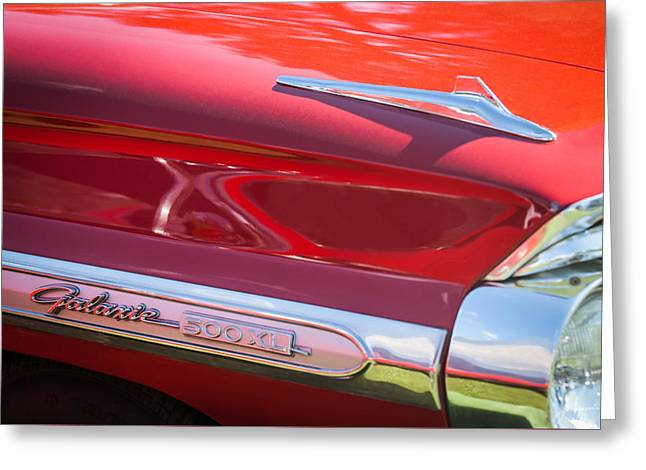 1964 Ford Galaxie 500 Xl Emblem -0042c Greeting Card by Jill Reger